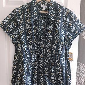 Women's Charter Club Short Sleeve Shirt Size 16w